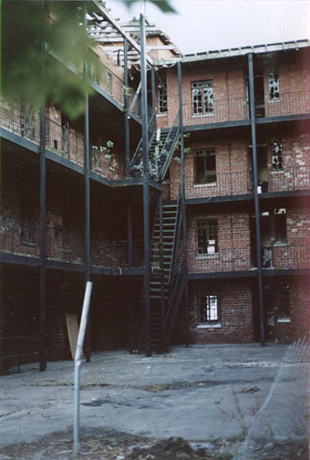 Gary, Indiana - Mahencha Apartment courtyard