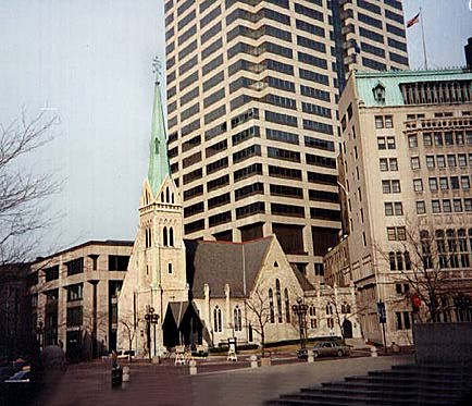 Christ Church Cathedral (1859) 125 Monument Circle Gothic Revival Public Buildings of Indianapolis