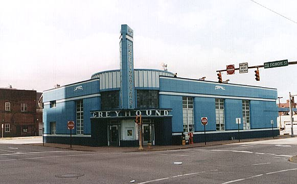Evansville, Indiana - Art Deco Greyhound Bus Terminal