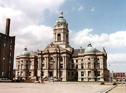 Landmarks of Evansville, Indiana - Public Buildings - Old Vanderburgh Co. Courthouse - Beaux Arts